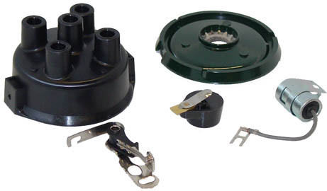 Ferguson points, condensor, rotor distributor cap, dust cover.