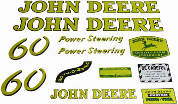 John Deere computer cut vinyl decals  sc 1 st  Restoration Supply Tractor Parts & Tractor Parts - John Deere vinyl decal sets from Restoration Supply