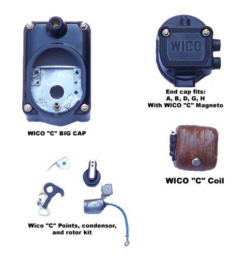 Tractor Parts - John Deere A, B, D, G, H, L, LA Wico magneto